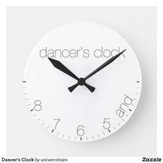 Shop Dancer's Clock created by univercitizen. Hand Coloring, Dancer, Clock, Display, Wall, Artwork, Prints, Gift, Clocks