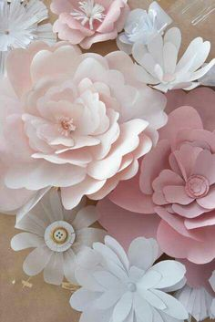 Large paper blossoms.