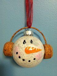 Snowman head ornament
