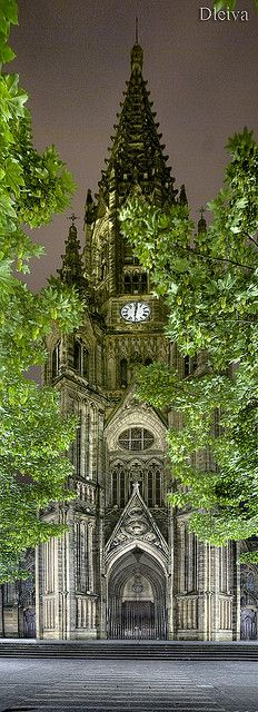 Catedral Donostia en la noche | Flickr - Photo Sharing!
