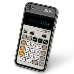 Retro calculator iPhone cover
