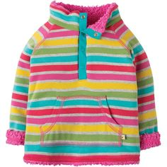 Frugi Little Snuggle Fleece - Rainbow Marl Breton - Frugi