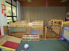 New uses for old cribs....classroom room divider.