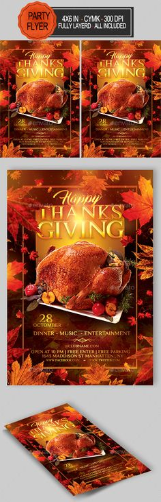 Thanksgiving Turkey Dinner Flyer  Flyer Template