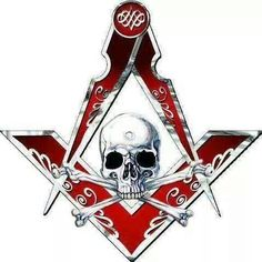 Skull, compass and square. Freemason Tattoo, Masonic Tattoos, Freemason Symbol, Masonic Art, Masonic Lodge, Masonic Symbols, Masonic Jewelry, Illuminati Tattoo, Illuminati Symbols