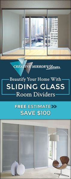 Create a unique focal point to your room or office with custom designed glass room dividers from Creative Mirror & Shower in Chicago, IL. Home Gym Design, House Design, Glenview House, Prefab Office, Mirror Room Divider, Modern Bathrooms Interior, Door Dividers, Shed Doors, Window Panels
