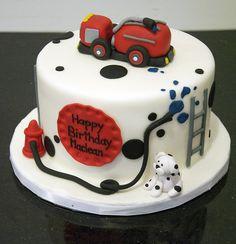 fire truck birthday cake by www.fortheloveofcake.ca,