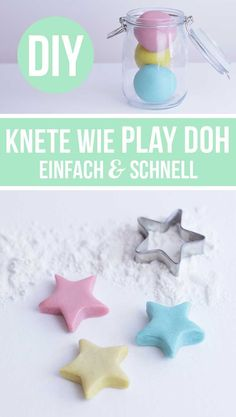 Knete selber machen - Rezept wie Play Doh (ohne Alaun) Basteln mit Kindern - My best diy and crafts list Kids Crafts, Clay Crafts, Diy Crafts To Sell, Summer Crafts, Easter Crafts, Decor Crafts, Diy For Kids, Gifts For Kids, Kids Christmas