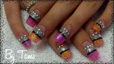 Pink & peach nails