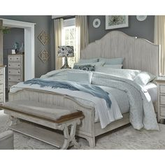 Queen Panel Bed by Liberty Furniture. Liberty Furniture is available in Washington from Fitterer's Furniture in Downtown Ellensburg. White Bedroom Furniture, Bed Furniture, Kitchen Furniture, Royal Furniture, Furniture Outlet, City Furniture, Luxury Furniture, Wolf Furniture, Furniture Dolly