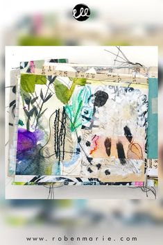 Mixed media art journaling inspiration with watercolor, stitching and paper collage by Roben-Marie Smith Art Journal Pages, Art Journaling, Art Journal Techniques, Handmade Journals, Art Journal Inspiration, Tag Art, Mixed Media Art, Art Tutorials, Altered Art