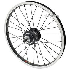 Jtek for Brompton Sturmey Archer 3 Speed Rear Wheel 16 x 1 3/8  - Black