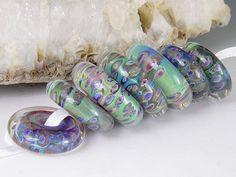 Opal Discs 7 boro/borosilicate handmade artisan by redsidedesigns, $40.00
