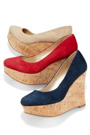 Boston Proper Pump cork wedge - I spent most of 2012 looking for this shoe