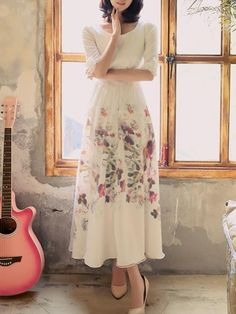 Attractive Floral Printed Maxi-dress Maxi Dresses from fashionmia.com