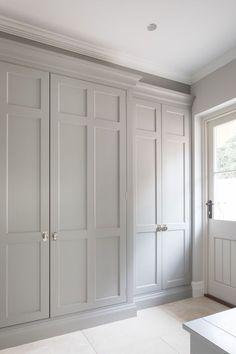 Boot room Bedroom Built In Wardrobe, Bedroom Closet Doors, Corner Wardrobe, Hallway Closet, Sliding Wardrobe Doors, Hallway Storage, Wardrobe Storage, Bedroom Storage, Master Closet