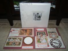 Vintage Wedding/ Anniversary Scrapbook Album 12 by 12 Ready for 4 by 6 pics, 20 pages, $139.99