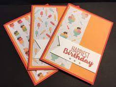 My Creative Corner!: Cool Treats, Birthday Card, 2017 Occasions Catalog, Stampin' Up!, Rubber Stamping, Handmade Cards, Stamp a Stack