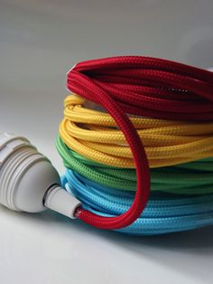 Rockett St George Coloured Cord Flex Light Fittings – Green at Coggles.com online store