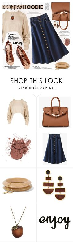 """Cute Trend: Cropped Hoodies"" by katjuncica ❤ liked on Polyvore featuring Ben-Amun, Ancient Greek Sandals, Lizzie Fortunato, Emi Jewellery and CroppedHoodie"