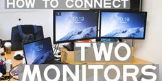 How to connect two monitors Make sure your computer can support multiple displays. This isn't usually an issue for laptop computers, but your desktop computer may not meet the requirements for adding a second monitor: Desktop Computers, Laptop Computers, What To Sell, Good Tutorials, Monitor, Connection, Ads, Meet, Amazon