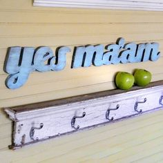 Yes Ma'am Southern Slang Sign Shabby Chic by SlippinSouthern, $50.00