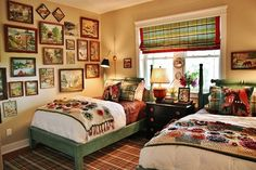 So in love with this room!  Eye Candy: Art-Filled Bedrooms and Living Rooms » Curbly | DIY Design Community