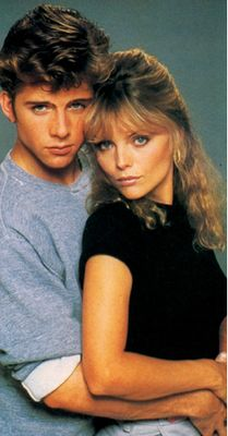 Michelle Pfeiffer and Maxwell Caulfield in a Grease 2 poster