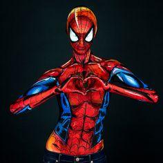 Personnages de Marvel et Body Painting (3)