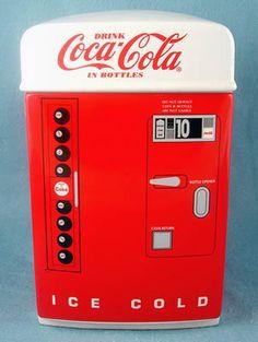 Coca-Cola Vending Machine Cookie Jar