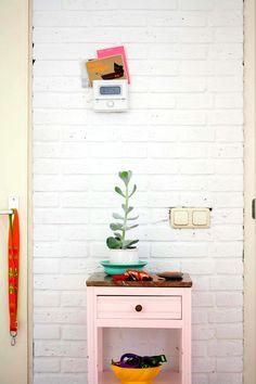 Diy peindre en rose une petite table
