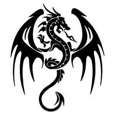 Dragon Silhouette Car Body Decal 5.5*6.5 In