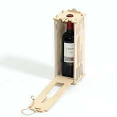 Wooden gift wrap for wine
