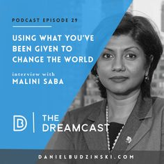 I am very excited to share this week's #Dreamcast Podcast guest with you Malini Saba founder and chairwoman for Saban Capital Group Inc. a private investment firm specializing in media, entertainment and communications industries. I loved hearing her story and I think you will enjoy it to, take a listen: http://www.danielbudzinski.com/podcast/malini-saba/