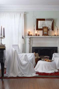 Effortlessly Eerie Living Room