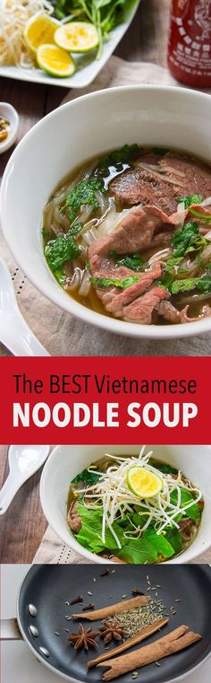 Ingredients and techniques for making the most flavorful Pho broth, redolent of charred onion, ginger, star anise, and cinnamon. #noodles #soup #vietnamese #noodlesoup