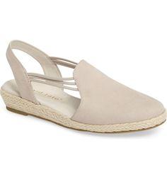 Beige Shoes - Spring / Summer. David Tate 'Nelly' Slingback Wedge Sandal (Women)