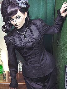 Black Victorian Grand Dame Blouse  from http://www.retroscopefashions.com
