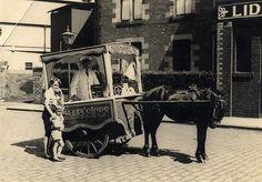 vintage ice cream cart