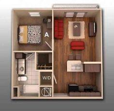 Perfect Le Plan Maison Du0027un Appartement Une Pièce   50 Idées. Furniture StoresOne  Bedroom ...