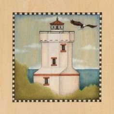 Posterazzi Lighthouse Cove IV Canvas Art - Beth Logan (24 x 24)