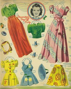 airliner 1941 - Bobe Green - Picasa Webalbum free paper dolls at artist Arielle Gabriel's The International Paper Doll Society also free Asian paper dolls at The China Adventures of Arielle Gabriel * Paper Dolls Book, Vintage Paper Dolls, Paper Toys, Vintage Sewing, Six Sisters, Best Uniforms, Missing Missy, Paper Art, Paper Crafts