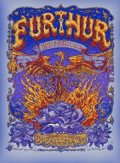 Furthur 2012 New Years Run - Bill Grahm Civic, SF Artist: David Welker
