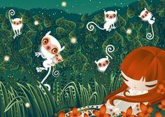 Tina Mansuwan ilustradora que creció en Bangkok, Brunei, Estocolmo y Londres. Fue a la universidad de San Martín. Le gustan las artes populares de Asia central y Rusia, gráficos japoneses, el color rosa y verde.