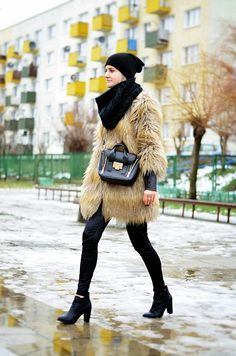 Choineczka, Faux fur coat,fashion,street style,fur,moda,blogger