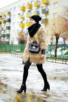 Choineczka, Faux fur coat,fashion,street style,fur,moda,blogger