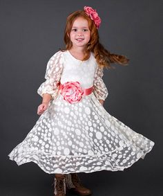 9315842f47a Mia Belle Baby Antique Crème Lace Peasant Dress - Toddler