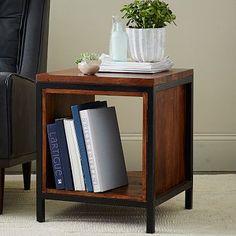 Metal + Wood Side Table #westelm side table $399