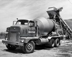 Vintage Trucks Classic Cement being poured in to a cement truck Canvas Art - x - Vintage Trucks, Old Trucks, Semi Trucks, Classic Chevy Trucks, Classic Cars, Cement Mixer Truck, Equipment Trailers, Pumps, Custom Trucks