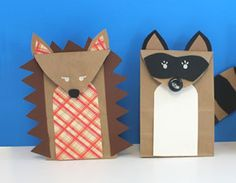 MAKE CUTE WOODLAND ANIMAL PUPPETS (VIA http://www.linesacross.com/2012/11/woodland-creature-brown-paper-bags-and.html#)